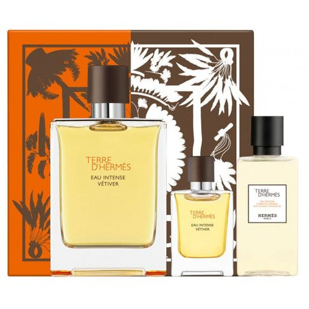 Hermes Terre d'Hermes Intense Vetiver Set Edp 100 ml + 5 ml + Shower Gel 40 ml 100 ml